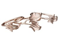 French Connection Ivy Leaf Midi Ring Set Rose Gold Ring