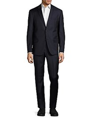 Michael Kors Solid Wool Suit Navy