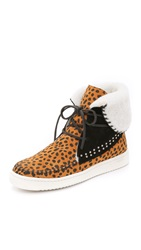 Thakoon Warwick 3 High Top Sneakers Cheetah