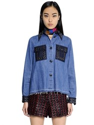 Sonia Rykiel Embellished Cotton Denim Shirt