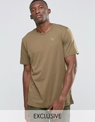 Puma Oversized T Shirt In Khaki Exclusive To Asos Green