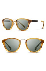Shwood Women's 'Ainsworth' 49Mm Polarized Sunglasses Amber Gold G15 Polar Amber Gold G15 Polar