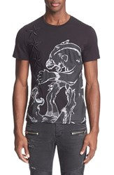 Men's Just Cavalli 'Fighting Tigers' Embroidered Applique T Shirt