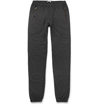 Tomas Maier Tapered Loopback Cotton Blend Jersey Sweatpants Black