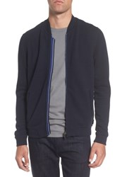 Ted Baker Men's London Clive Quilted Jersey Bomber Jacket Navy
