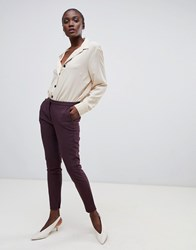 Selected Femme Cropped Tailored Trouser Brown