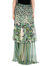Marco Bologna Long Skirts Light Green