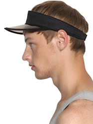 Msgm Transparent And Canvas Visor Black