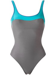 Lygia And Nanny Panelled Swimsuit Grey