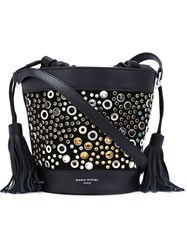 Sonia Rykiel Gems Studded Bucket Shoulder Bag Black
