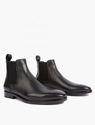 Lanvin Black Leather Chelsea Boots