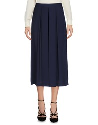 Edward Achour 3 4 Length Skirts Dark Blue