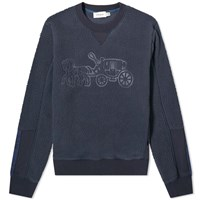 Coach Horse And Carriage Fleece Crew Sweat Blue