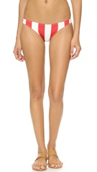 Solid And Striped The Chloe Bikini Bottoms Red And White Stripe