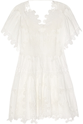 Chloe Guipure Lace And Plisse Muslin Dress