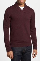 The Rail Trim Fit Nep Yarn Shawl Collar Sweater Red