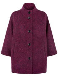 Fenn Wright Manson Satellite Tweed Coat Pink