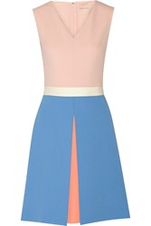 Roksanda Ilincic Color Block Crepe Dress Pink