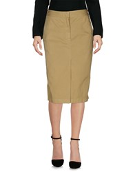 Aspesi Knee Length Skirts Acid Green