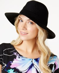 Inc International Concepts Crochet Packable Panama Hat Only At Macy's Black