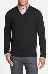 Men's Victorinox Swiss Army 'Signature' Tailored Fit V Neck Sweater Black