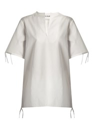 Acne Studios Bluma Cotton Poplin Top White