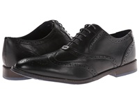 Hush Puppies Style Brogue Black Leather Men's Lace Up Wing Tip Shoes