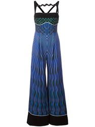 Mary Katrantzou Snuffbox Print 'Moss' Jumpsuit Black
