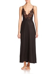 La Perla Sophia Lace Trimmed Nightgown Black
