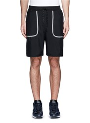 Icny 'Piping' Reflective Seam Shorts Black