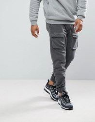 Your Turn Yourturn Cargo Joggers In Grey
