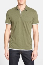 7 Diamonds 'Ultimate' Polo Green