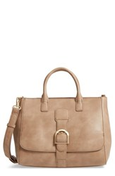 Sole Society Zola Faux Leather Satchel Beige Taupe