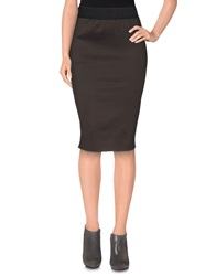 Jijil Knee Length Skirts Black