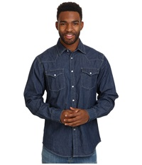 Mountain Khakis Original Mountain Denim Shirt Dark Indigo Men's T Shirt Blue