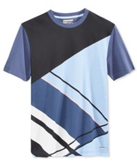 Sean John Men's Graphic Print Cotton T Shirt Only At Macy's Vintage Indigo