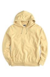 J.Crew Garment Dyed French Terry Hoodie Pale Yellow
