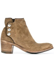 Alberto Fasciani Button Detail Boots Nude And Neutrals