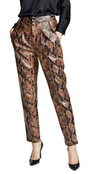 Torn By Ronny Kobo Olivia Pants Taupe Multi