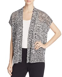 Eileen Fisher Cap Sleeve Marled Cardigan Black