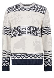 Bellfield Idris Jumper Multi Grey