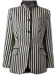 Jean Paul Gaultier Vintage Striped Jockey Jacket Black