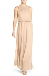 Women's Paper Crown By Lauren Conrad 'Springfield' Cowl Neck Chiffon Gown Cream