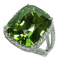 Paolo Costagli Peridot And Diamond Ring Green