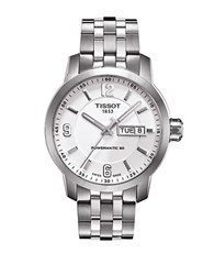 Tissot Men's Prc 200 Automatic Stainless Steel Watch Silver