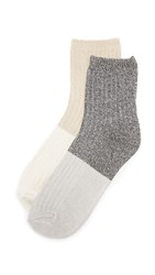 Madewell Colorblock Mid Ankle Sock 2 Pack True Black