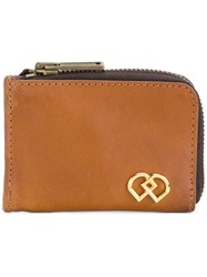 Dsquared2 Dd Branded Wallet Leather Brown