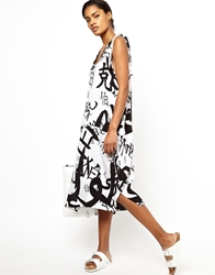 Ann Sofie Back Back By Ann Sofie Back Dress In Chinese Print Blackonwhite