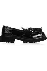 Msgm Patent Leather Loafers Black