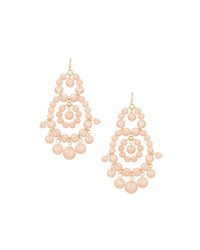 Fragments For Neiman Marcus Beaded Statement Earrings Peach